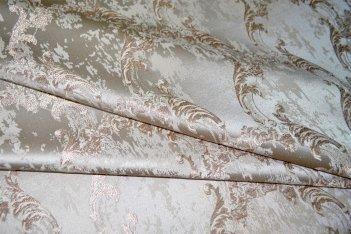 """Шторная ткань """"Сиеста"""" коричневая с мелким вензелем"""