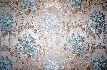 """Шторная ткань """"Сиеста"""" коричнево - голубая"""