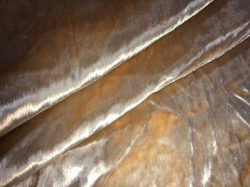 Готовая велюровая штора бежевого цвета из натурального шелка