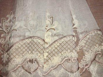 Гардина с вышивкой BRISTOL 6991, цвет бежевый V-3
