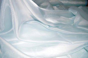 Органза однотонная с жемчужным отливом, цвет голубой