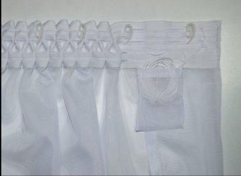 Гардина Вуаль белая, ширина 6 метров