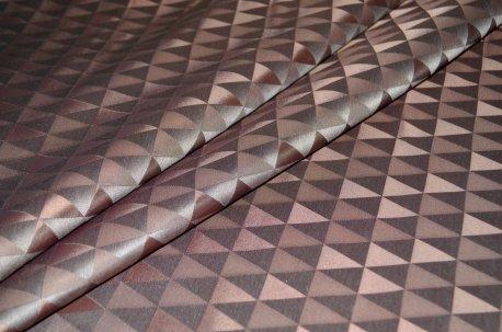 "Ткань для штор ""Траянгл"" шоколадного цвета недорого"