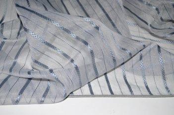 Органза серая с серой полосой