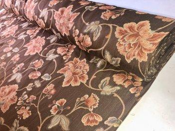Портьера Урла коричневого цвета