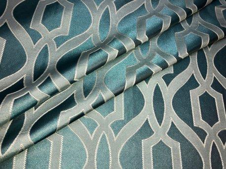 Ткань шторная RACE, цвет бирюзовый недорого