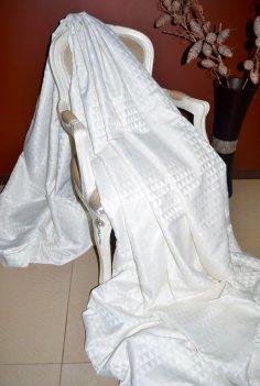 """Ткань для штор """"Траянгл"""" молочного цвета"""