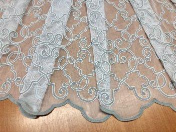 Гардина с вышивкой Bristol 9003, цвет серый