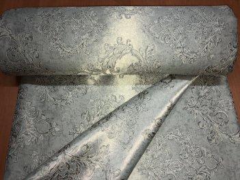 Портьера DAMASK серого цвета