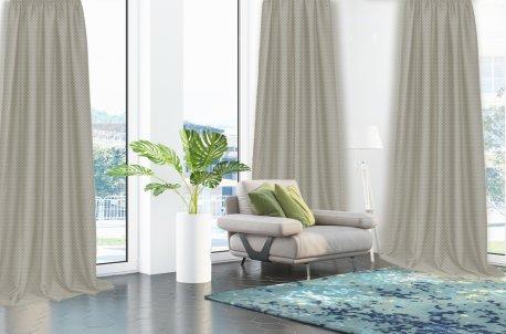 Готовые шторы DIMOUT CAMARO светло серого цвета  (2 шт х 1,5 м) недорого