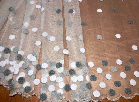 Современный тюль BRISTOL 4477,  серые круги V-3 недорого