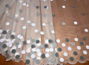 Матовая сетка BRISTOL 4477,  серые круги V-3