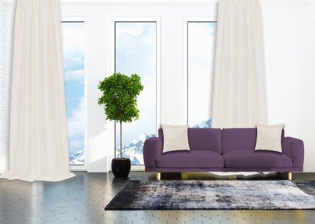 Готовые шторы SPARTA KETEN светло - бежевого цвета  (2 шт х 1,5 м) недорого
