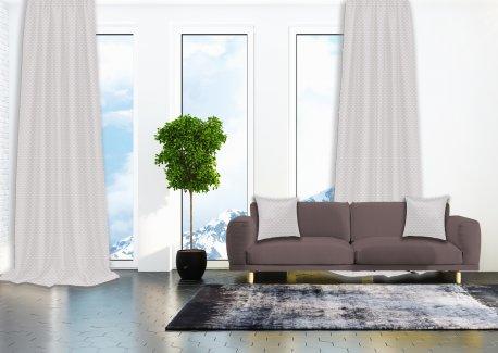 Готовые шторы SPARTA KETEN молочного цвета  (2 шт х 1,5 м) недорого