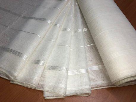 Тюль MAKARA молочного цвета недорого