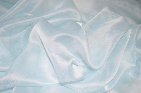 Органза однотонная с жемчужным отливом, цвет голубой недорого