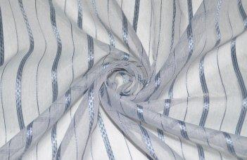 Органза с серо-голубой полосой