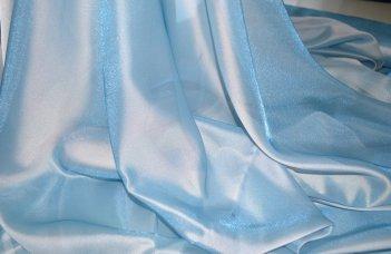 Орнанза однотонная с жемчужным отливом, цвет синий