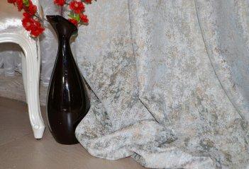 """Ткань для штор и мебели """"Фортуна"""" золотисто-бирюзовый однотонный"""