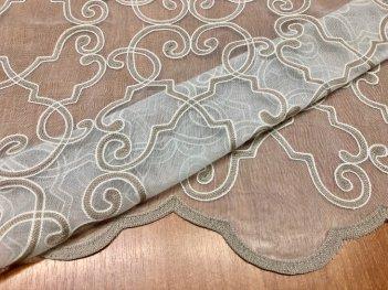 Гардина с вышивкой Bristol 9003, цвет бежевый