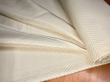 Портьера MIRAY елочка, цвет молочный 101