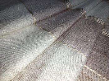 Тюль MAKARA с полосами розового цвета