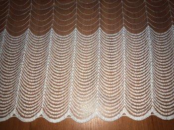Тюль с вышивкой, цвет молочный 83019/2685