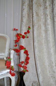 """Ткань для штор и мебели """"Фортуна"""" светло оливковый однотонный"""