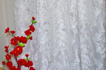 """Ткань для штор и мебели """"Фортуна"""" светло серый узор"""