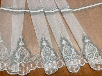 Гардина с вышивкой BRISTOL 4548, цвет серый