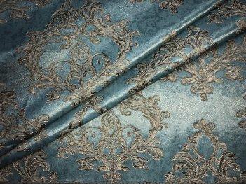 Портьера DAMASK бирюзового цвета