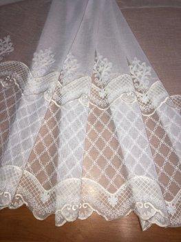 Гардина с вышивкой BRISTOL 6991, цвет молочный