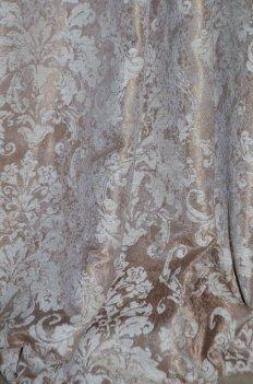 """Ткань для штор и мебели """"Фортуна"""" какао узор"""