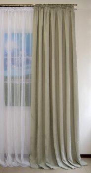 Готовая штора из ткани DIAMOND светло-серый, ширина 2,0 метра