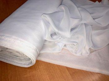 Однотонный тюль BASE белый