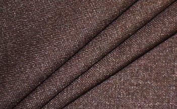 Готовые шторы SPARTA KETEN коричневого цвета  (2 шт х 1,5 м)