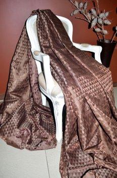 "Ткань для штор ""Траянгл"" шоколадного цвета"