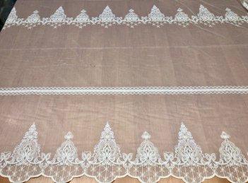 Гардина с вышивкой BRISTOL 4548, цвет молочный