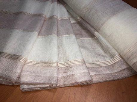 Тюль MAKARA с полосами розового цвета недорого