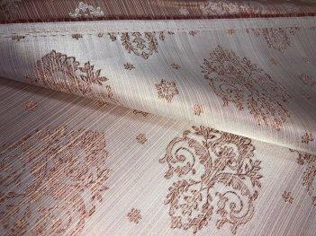 Шторная ткань МАРКИЗА персикового цвета