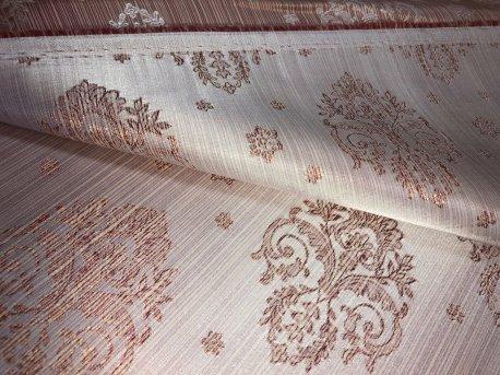 Шторная ткань МАРКИЗА персикового цвета недорого