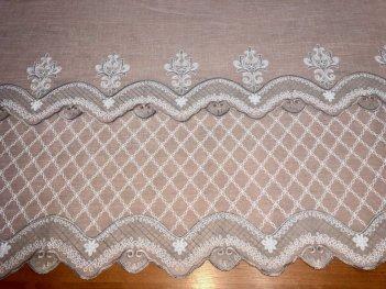 Гардина с вышивкой BRISTOL 6991, цвет серый