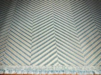 Портьера MIRAY елочка бирюзового цвета