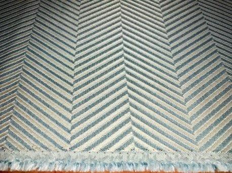Портьера MIRAY елочка бирюзового цвета недорого
