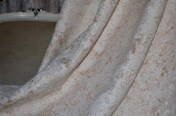 """Ткань для штор и мебели """"Фортуна"""" бежево - золотистый однотонный"""