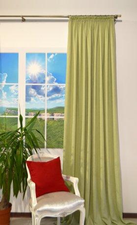 Штора из ткани DIAMОND салатовый, ширина 2,0 метра недорого