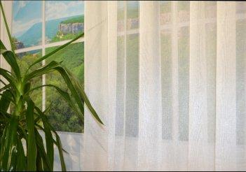 Гардина NET бежевая, ширина 6 метров