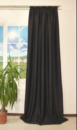 Штора блекаут CLOUD черная шириной 1, 5 м недорого
