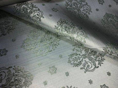 Шторная ткань МАРКИЗА, цвет зеленый недорого