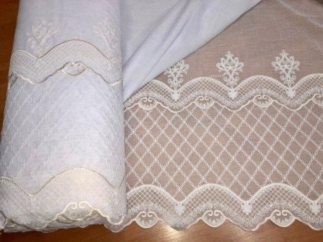 Гардина с вышивкой BRISTOL 6991, цвет молочный недорого